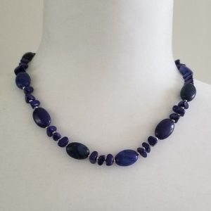 Chaps Blue Beaded Necklace